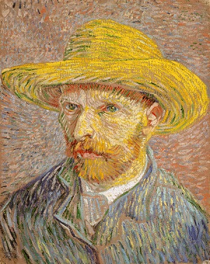 Self–Portrait with a Straw Hat 1887 Vincent van Gogh