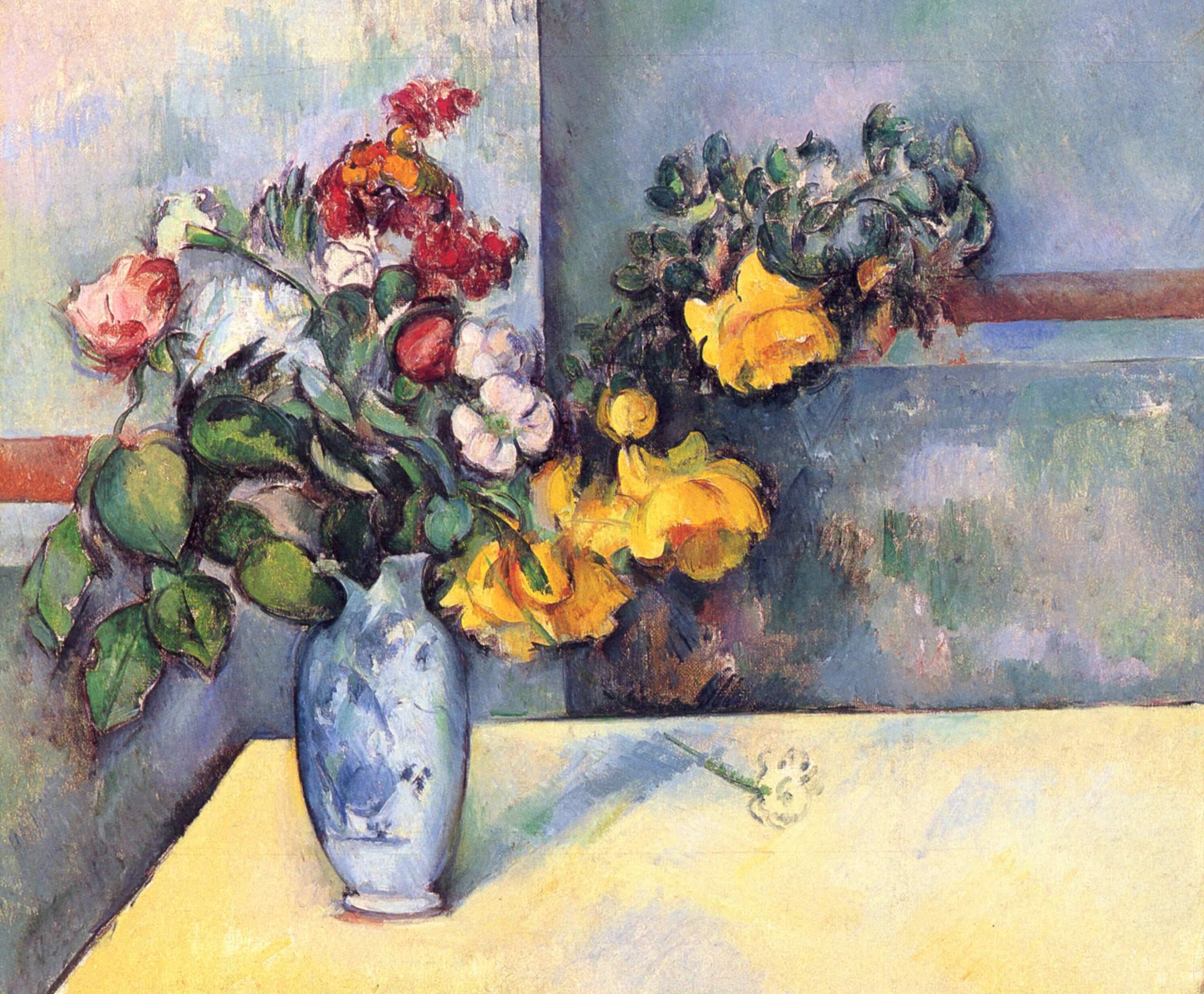 paul c233zanne stilllife flowers in a vase 1888
