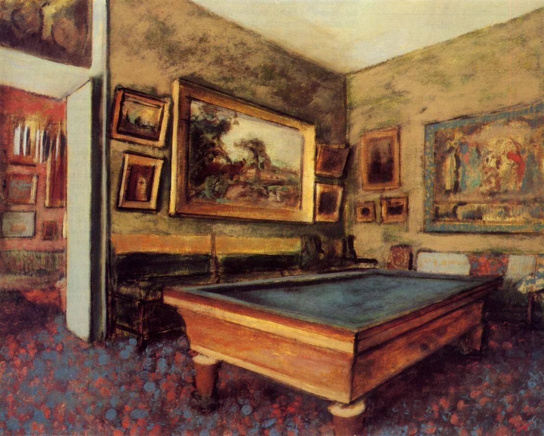 The Billiard Room at Menil-Hubert 1892