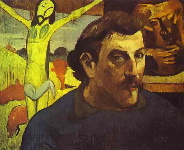 Self Portrait with the Yellow Christ 1890