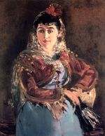 Portrait of Emilie Ambre in role of Carmen 1879