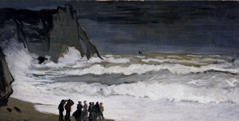 Rough Sea at Etretat 1869