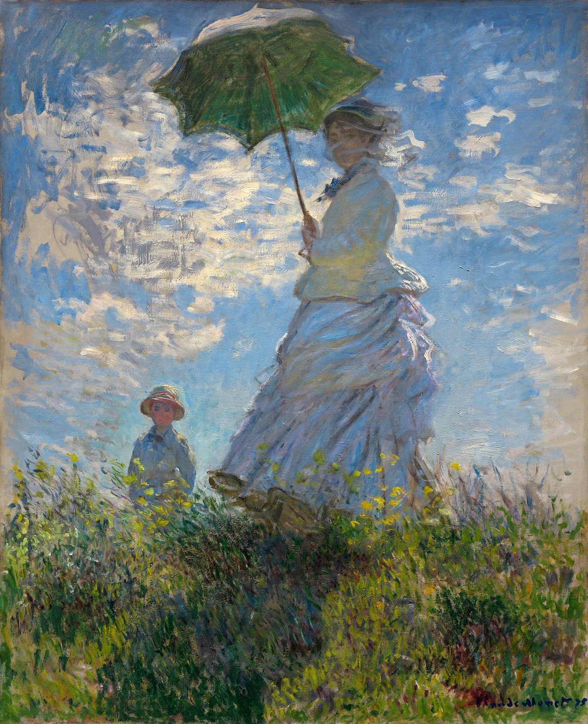 The Promenade, Woman with a Parasol 1875
