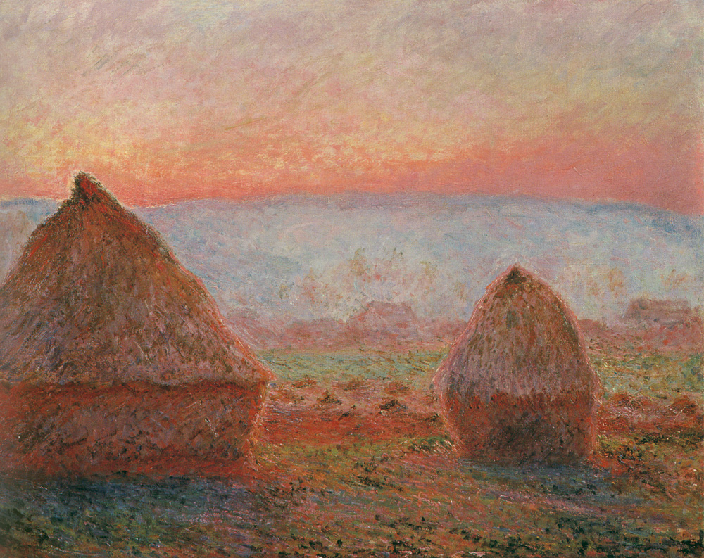 Haystacks at Giverny, the Evening Sun 1888