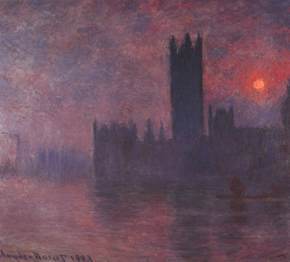 Houses of Parliament at Sunset 1903