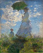 The Promenade, Woman with a Parasol