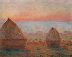 Haystacks at Giverny, the Evening Sun
