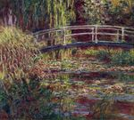 The Japanese Bridge or The Water-Lily Pond, Symphony in Rose
