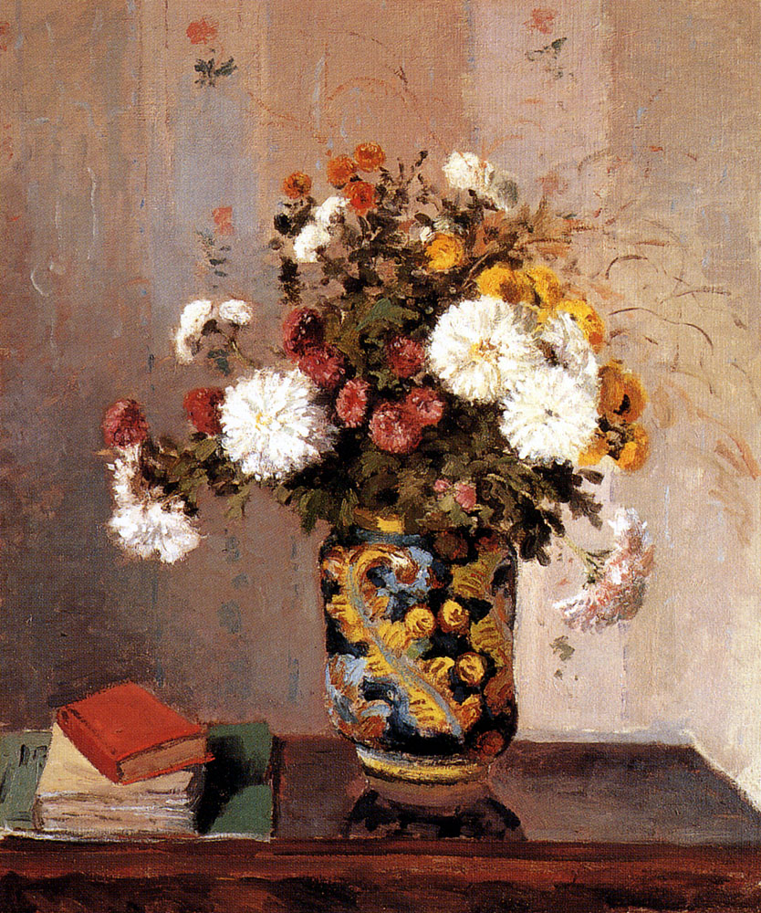 Chrysanthemums in a chinese vase 1873
