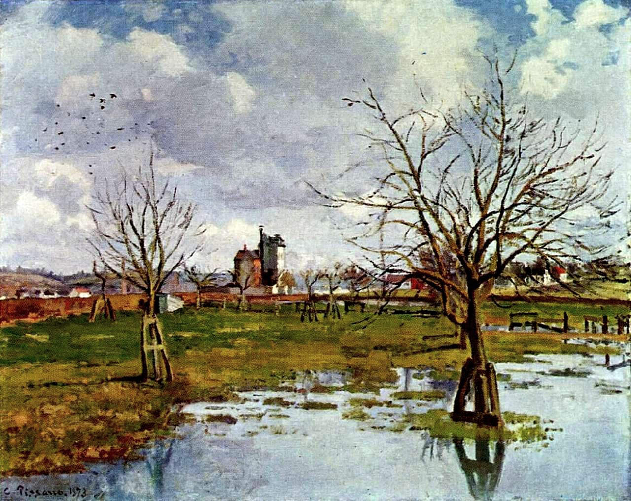 Landscape with flooded fields 1873