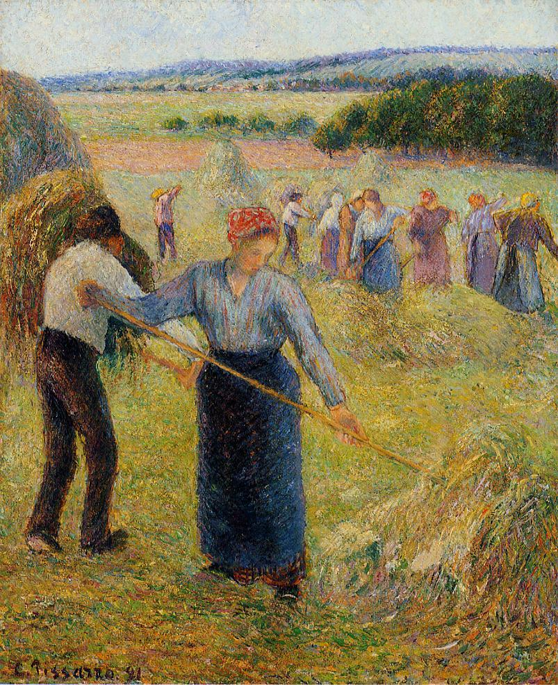 Haymaking at Eragny 1891