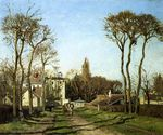 Entrance to the village of voisins yvelines 1872