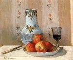 Still-life with apples and pitcher 1872