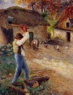 Pere Melon cutting wood 1880
