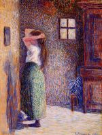 Young peasant at her toilette 1888
