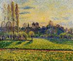 View of Bazincourt sunset 1892