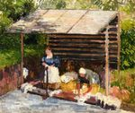 Laundresses at Eragny 1898
