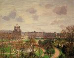 Garden of the Louvre morning grey weather 1899