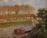 Sunset at Moret sur loing 1901