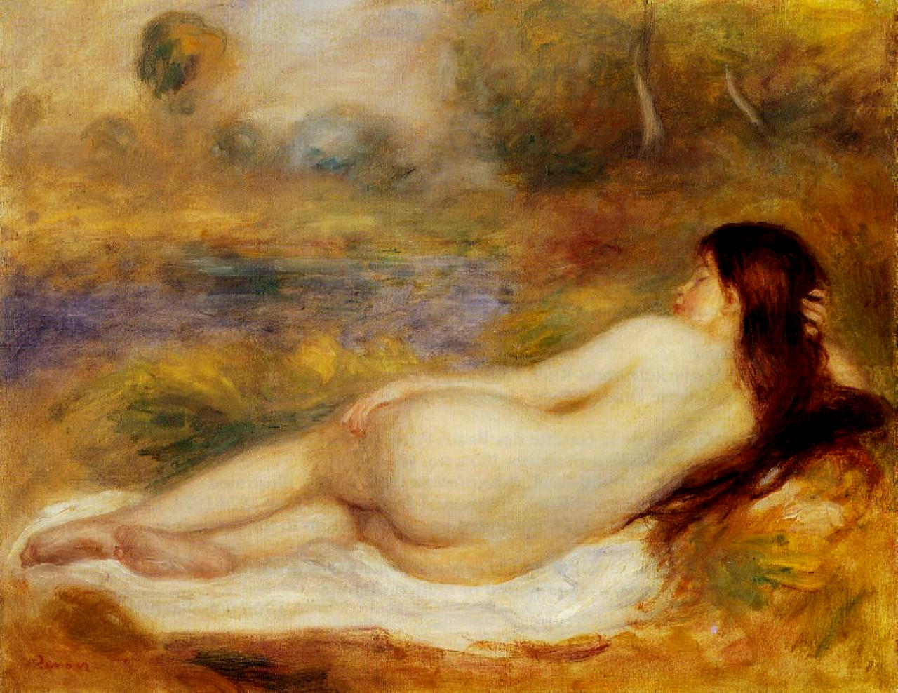 Nude reclining on the grass 1890