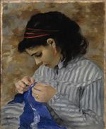 Lise Sewing 1866