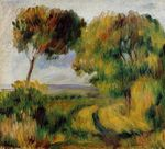 Breton landscape trees and moor 1892