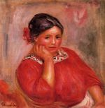 Gabrielle in a red blouse 1896