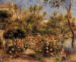 Young woman in a garden Cagnes 1905