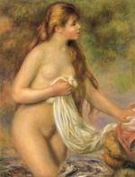 Bather with long hair 1895