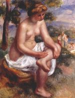 Seated bather in a landscape 1900