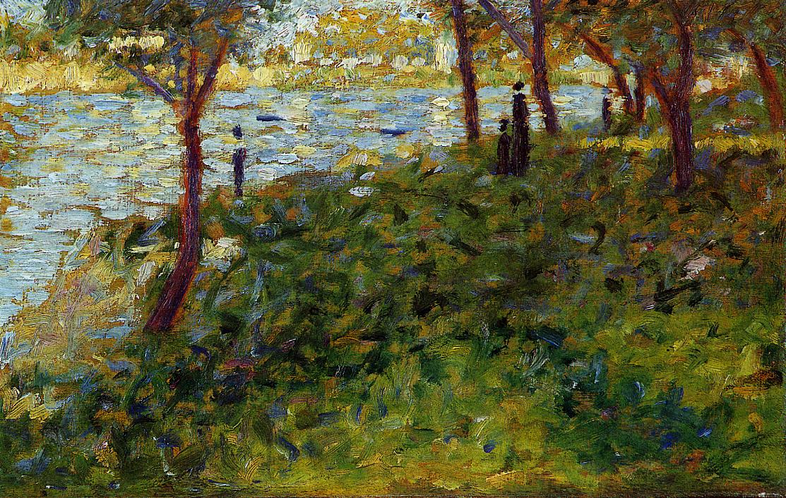 Landscape with Figure. Study for 'La Grande Jatte' 1885