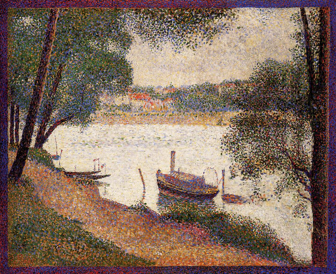 The Seine at La Grande Jatte in the Spring 1888