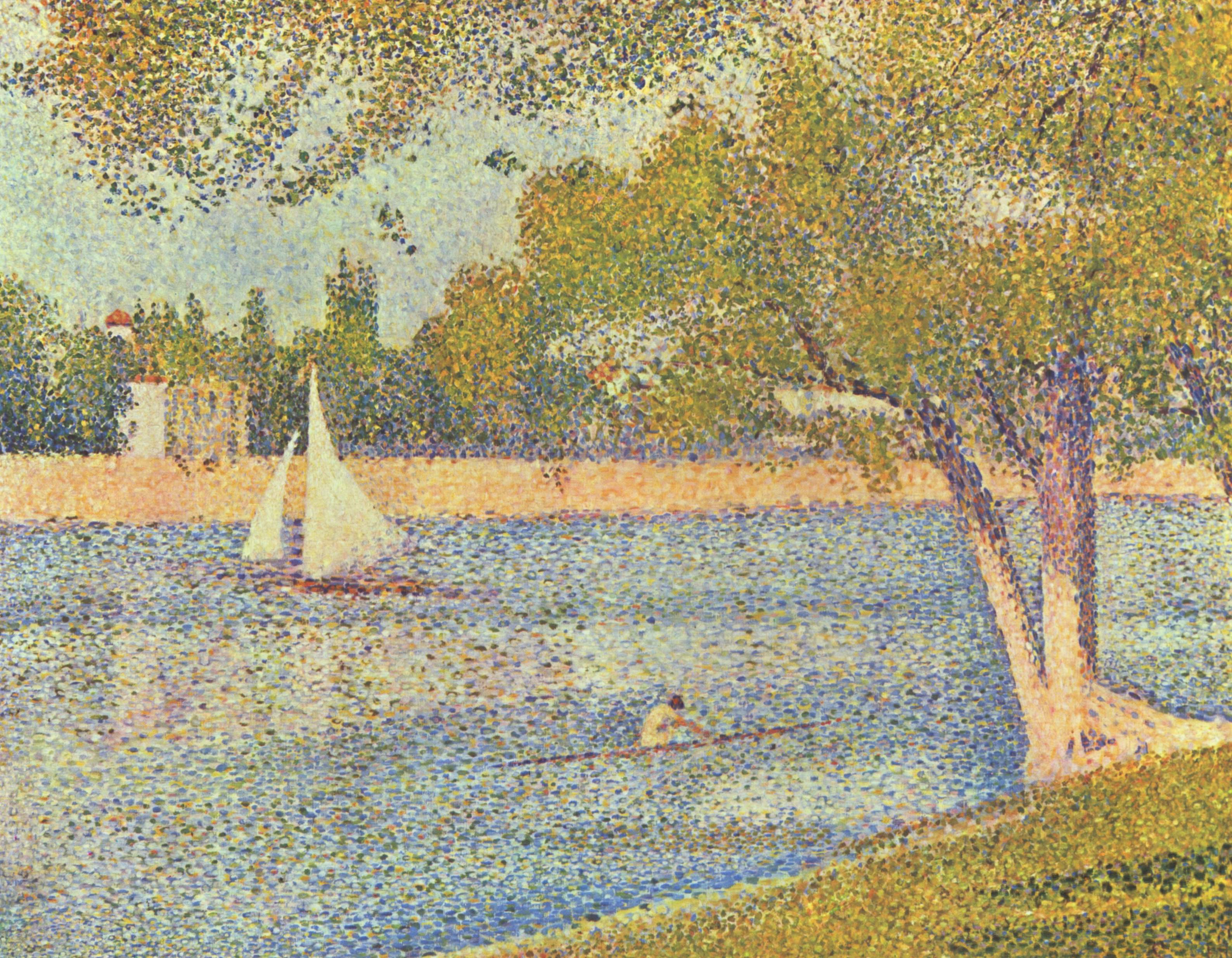 The river Seine at La Grande-Jatte 1888