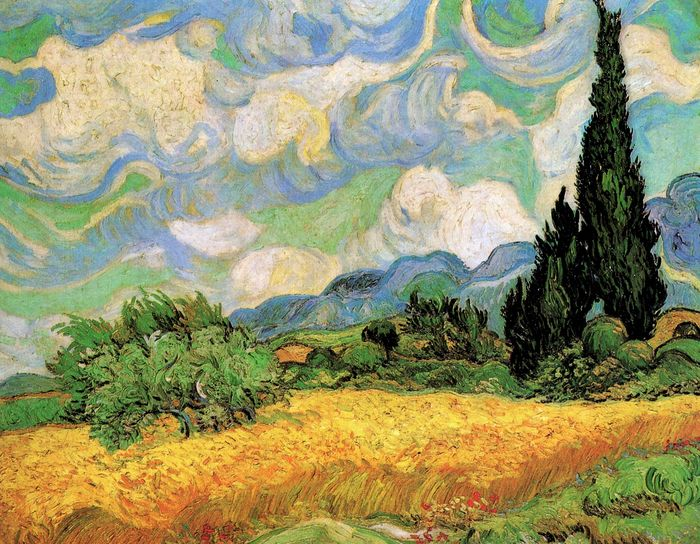Wheat Field with Cypresses at the Haute Galline Near Eygalieres 1884