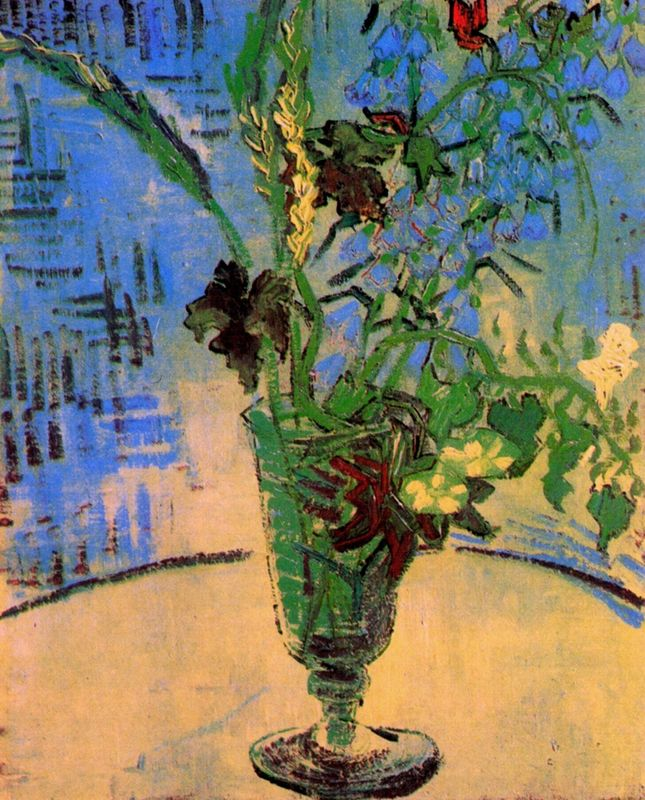 Still Life Glass with Wild Flowers 1890