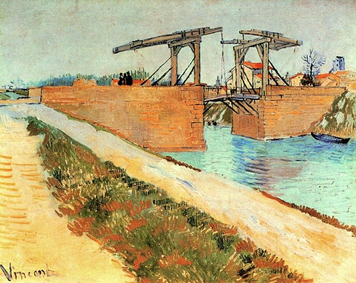 Langlois Bridge at Arles with Road Alongside the Canal 1888
